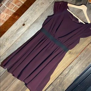 Maroon knee-length dress!